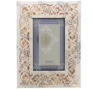 GOLD DISTRESS WITH FLORAL DESIGN 4 IN X 6 IN