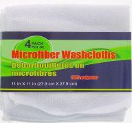 WASH CLOTHS 4 PACK 11 X 11 INCH