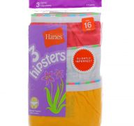 HANES 3 HIPSTERS SIZE 16
