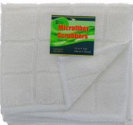 WHITE SCRUBBER 2 PACK 12 X 12 INCH