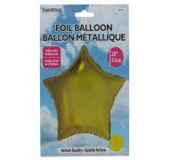 Star Shape Foil Mylar Balloon Gold