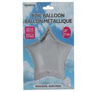 Star Shape Foil Mylar Balloon Silver