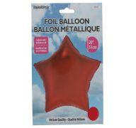 Star Shape Foil Mylar Balloon Red