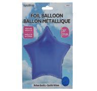 Star Shape Foil Mylar Balloon Dark Blue