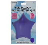 Star Shape Foil Mylar Balloon Purple