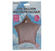 Star Shape Foil Mylar Balloon Rose Gold