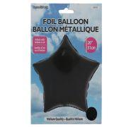 Star Shape Foil Mylar Balloon Black