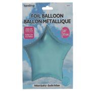 Star Shape Foil Mylar Balloon Light Blue