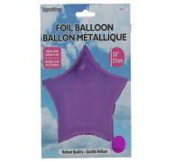 Star Shape Foil Mylar Balloon Fushia