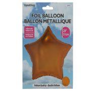 Star Shape Foil Mylar Balloon Orange