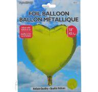 GOLD FOIL HEART SHAPE BALLOON 18 INCH