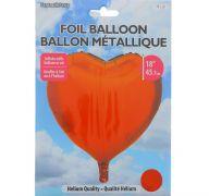 RED FOIL HEART SHAPE BALLOON 18 INCH