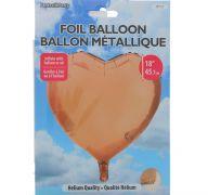 ROSE GOLD FOIL HEART SHAPE BALLOON 18 INCH