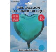 LIGHT BLUE FOIL HEART SHAPE BALLOON 18 INCH
