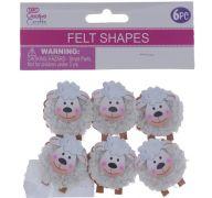 FELT SHEEP SMALL 6 PACK