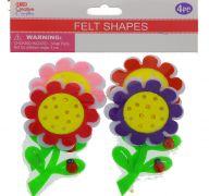 FELT FLOWER 4 PACK