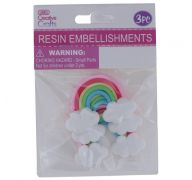 RESIN RAINBOW CRAFTS 5.5 CM X 4 CM 4 PACK