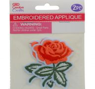 ROSE EMBELLISHED APPLIQUE