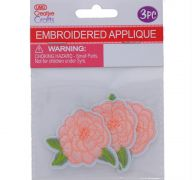 ROSE EMBROIDERED APPLIQUE 3 PACK