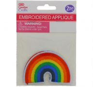 RAINBOW EMBROIDERED APPLIQUE