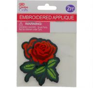 ROSE EMBROIDERED APPLIQUE