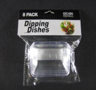 Plastic Dipping Dish 8 Count