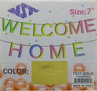 GOLD WELCOME HOME 7 INCH BANNER