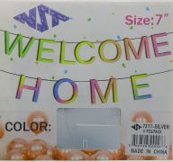SILVER WELCOME HOME 7 INCH BANNER