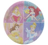 DISNEY PRINCESS DREAM 9 INCH PLATES 8 COUNT