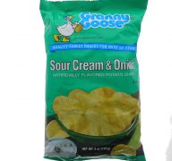 GRANNY GOOSE SOUR CREAM AND ONION CHIPS 5 OZ