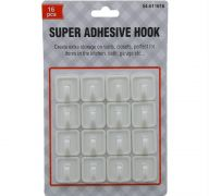 SUPER ADHESIVE HOOK 16 COUNT