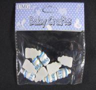 RESIN BABY BOTTLE BLUE