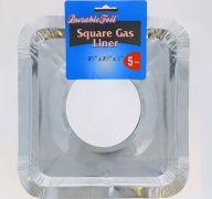 ALUMINUM GAS LINER SQUARE 5 PACK