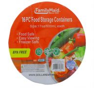FOOD STORAGE CONTAINERS 16 PACK 17 OZ