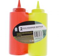 PLASTIC SQUEEZE BOTTLE 2 PACK 350 ML