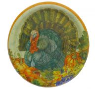 TRADITIONAL THANKSGIVING PLATES 9 INCH 8 COUNT