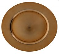 ROSE GOLD PLASTIC PLATE CHARGER 13 INCH