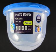 PLASTIC STORAGE CONTAINER 80Z 2400 Ml Length 5&quot Diameter 7.5&quot