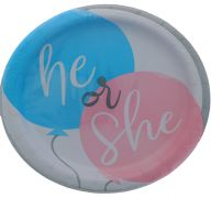 GENDER REVEAL 7 INCH PLATE 8 COUNT