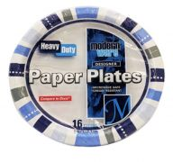 PAPER PLATES HEAVY DUTY 16 COUNT 8.62 INCH 926100