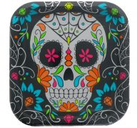 DIA LOS MUERTES PLATE 9 INCH 8 COUNT