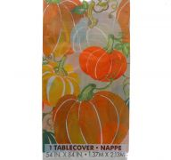 COLORFUL PUMPKIN TABLECOVER 54 X 84 INCH