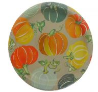 COLORFUL PUMPKIN PLATE 9 INCH 8 COUNT