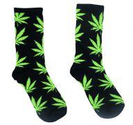 BLACK AND GREEN WEED SOCKS
