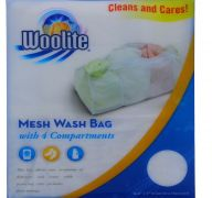 WOOLITE MESH WASH BAG WITH 4 COMPARTMENTS