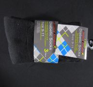 9-11 DIABETIC CREW  BLACK SOCKS