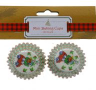 CHRISTMAS BAKING CUPS 100 PACK