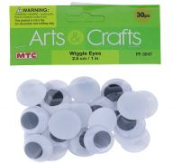 WIGGLE EYES 2.5 CM 30 COUNT
