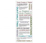 FAMILY PHRASE STICKERS 18 PC