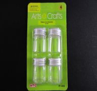 GLASS CONTAINER 15 ML 4 PC